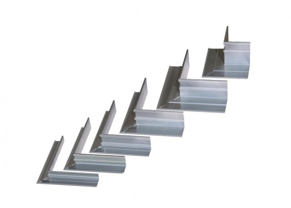 AluKante - Eckstück außen 75mm aus Aluminium